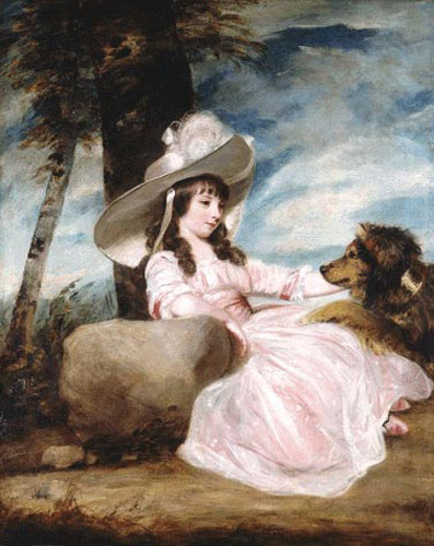 Portrait of Miss Anna Ward &amp; Her Dog