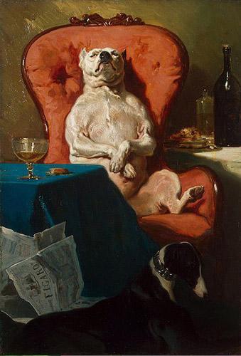 Pug Dog in an Armchair