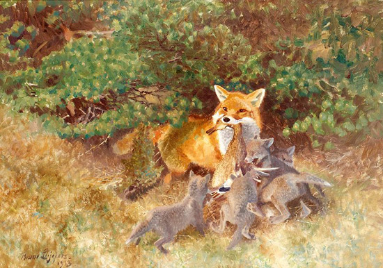 Vixen with Cubs