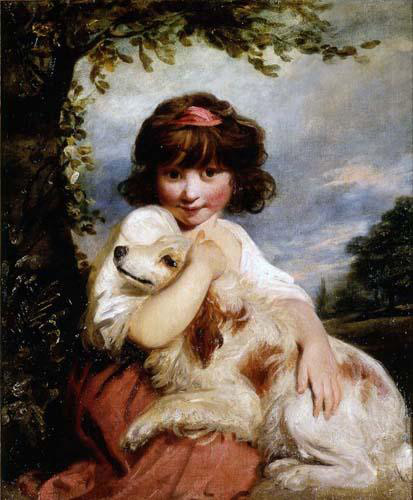 A Young Girl & Her Dog