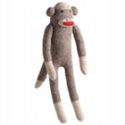 Sock Pal Monkey Plush Dog Toy