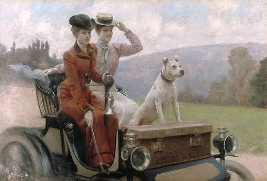 The ladies in the Bois de Boulogne Goldsmith in 1897 on a cart