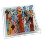 Glass Dogs Square Plate